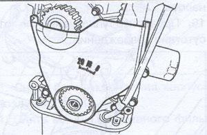 Нижняя крышка зубчатого ремня Chevrolet Aveo 2002g Форт