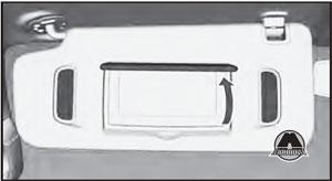 Подсветка на солнцезащитном козырьке Chevrolet Trailblazer
