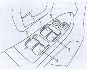 Выключатель стеклоподъемника Citroen C-Crosser
