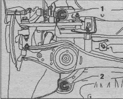 демонтаж подрамника Volkswagen Tiguan