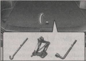 домкрат и инструменты в Kia Sportage