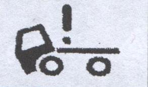 Индикатор открыт замок механизма наклона кабины FAW 1051
