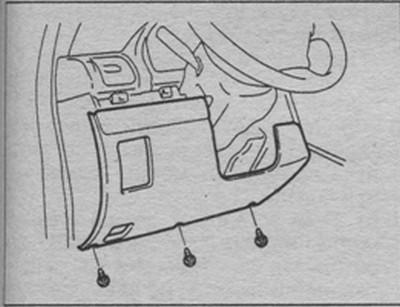 фальшпанель со стороны водителя в авто Suzuki Liana