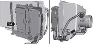 крепление корпуса воздушного фильтра Ford Kuga
