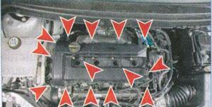 крепление крышки головки блока цилиндров Ford Focus 2