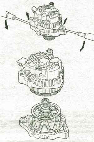 обмотка статора Honda Fit, обмотка статора Honda Jazz