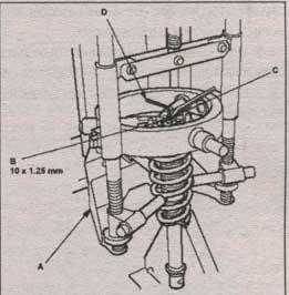 пружина аммортизатора передней подвески Honda Accord