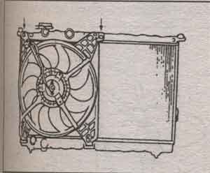 крепление вентилятора Hyundai Sonata