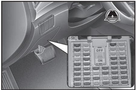 Крышка панели предохранителей Hyundai Creta