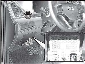 Панель предохранителей Hyundai Tucson TL