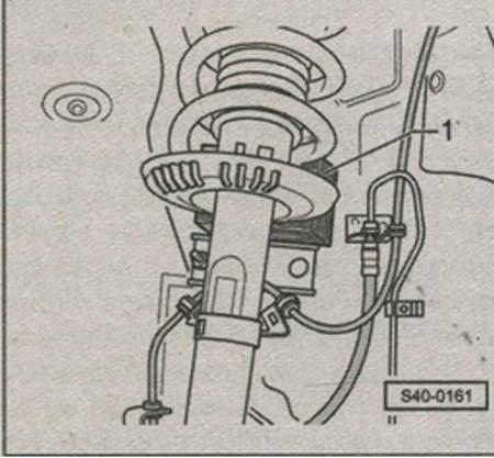 подшипниковая шейка цапфы колеса Skoda Fabia