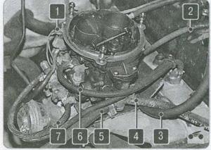 винт крепления гибкой тяги ГАЗ 2310, ГАЗ 2752, ГАЗ 2217, кронштейн ГАЗ 2310, воздушная заслонка ГАЗ 2310