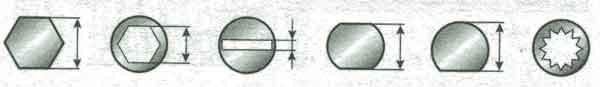форма концов штоков аммортизаторов передних стоек