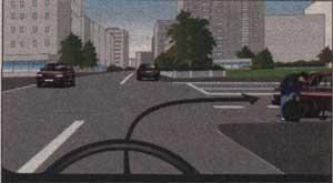 поворот на перекрёстке