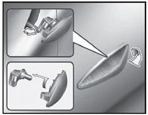Боковой повторитель указателя поворота KIA Cerato
