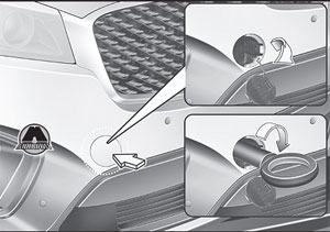 Буксировочный крюк KIA Sorento Prime