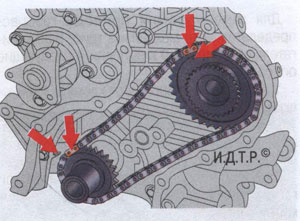 установочные звенья цепи Kia Ceed