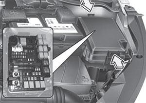 Предохранители в моторном отсеке Kia Ceed / ProCeed