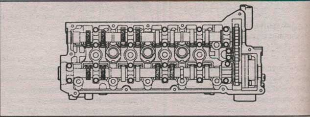 схема головки цилиндров Kia Cerato