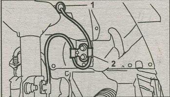 крепление провода датчика ABS Subaru Impreza