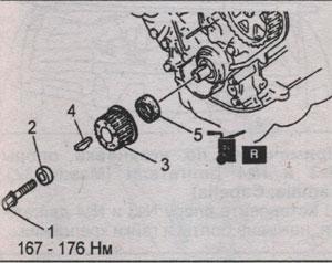передний сальник коленчатого вала Mazda RF, передний сальник коленчатого вала Mazda R2