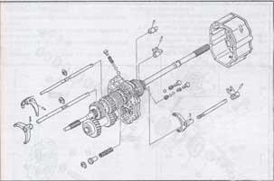 вторичный и промежуточный валы Mazda 323, 626