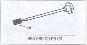 Цилиндрическая щетка Mercedes-Benz