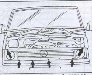 крепление картера Mercedes 100D