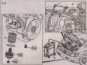 элементы маслосистемы Mercedes Vito