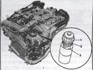 элемент масляного фильтра дизельных двигателей Mercedes Gelandevagen W463