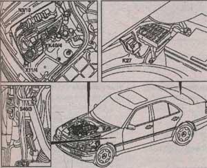 система впрска бензина и зажигания Mercedes-Benz C-Class
