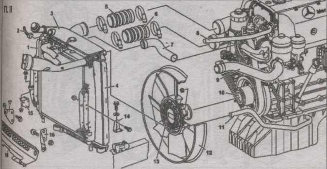 снятие воздушного фильтра Mercedes Atego, установка воздушного фильтра Mercedes Atego