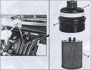замена масляного фильтра Mercedes B-class