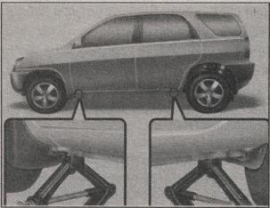 установка домкрата в Kia Sportage