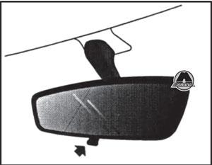 Зеркало заднего вида MG 350 с 2010