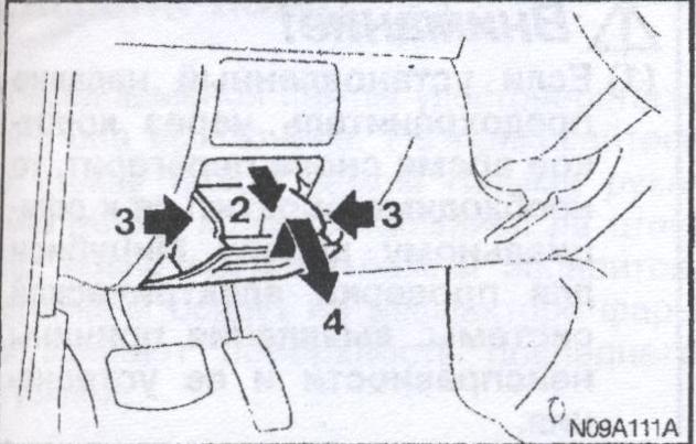 действия при аварии Mitsubishi Pajero Pinin, действия при аварии   Mitsubishi Pajero Io