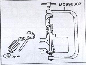 клапанная пружина Mitsubishi Galant