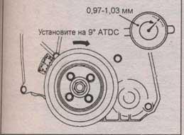проверка коленвала Mitsubishi Lancer