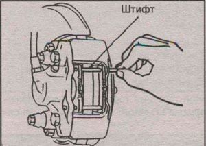 штифт крепления тормозных колодок Mitsubishi Montero Sport, штифт крепления тормозных колодок Mitsubishi Pajero Sport
