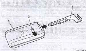 вспомогательный ключ Mitsubishi Lancer