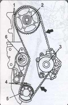 элементы зубчатого ремня Mitsubishi Galant