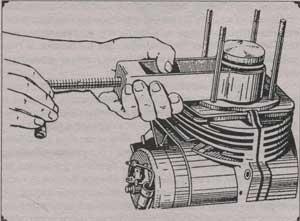 схема выпрессовки поршня Восход 2м