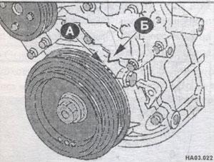 установка блока цилиндров Nissan Almera