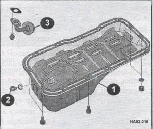 масляный картер Nissan Almera
