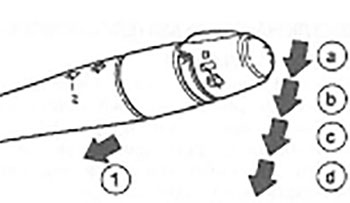 Выключатель очистителя и омывателя стекол Nissan Almera