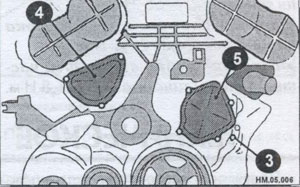 передняя пробка блока цилиндров Nissan Murano
