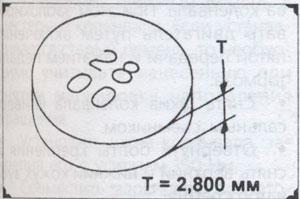 размер шайбы клапана Nissan Primera