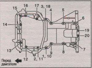 верхний масляный поддон Nissan X-Trail