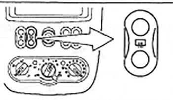 Выключатель обогревателя заднего стекла Nissan Almera