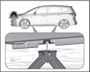 Колесной ключ Opel Zafira Tourer